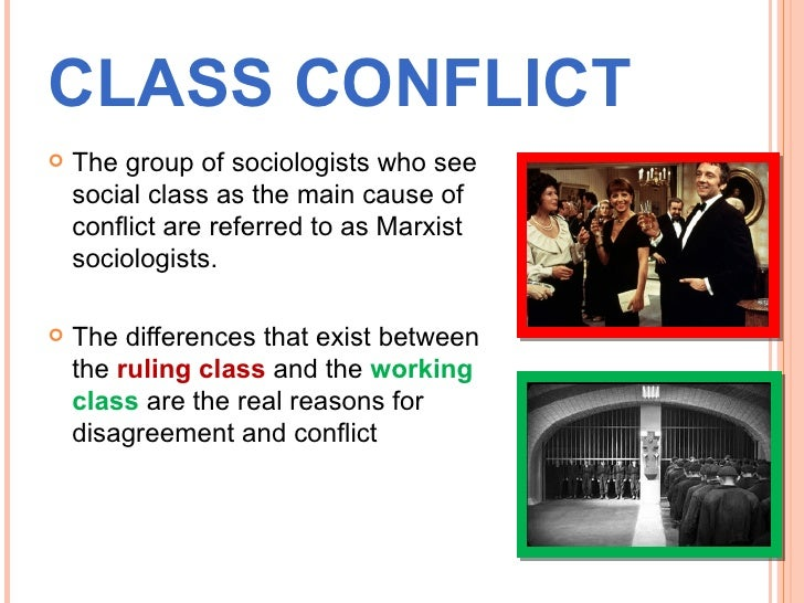 example pictures of consensus and conflict theories