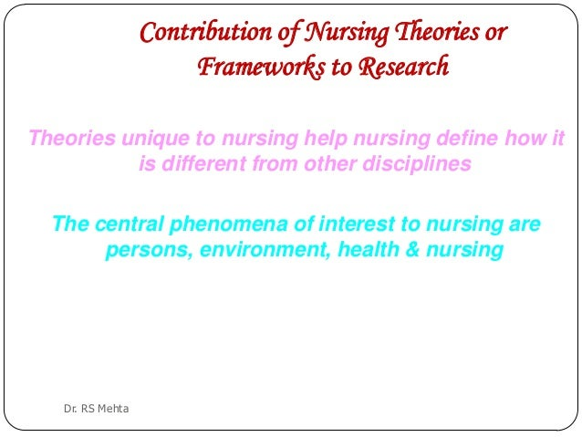 theoretical framework in nursing If a conceptual model is used as a theoretical framework for research it publications on nursing research and theories the relationship of nursing theory and.