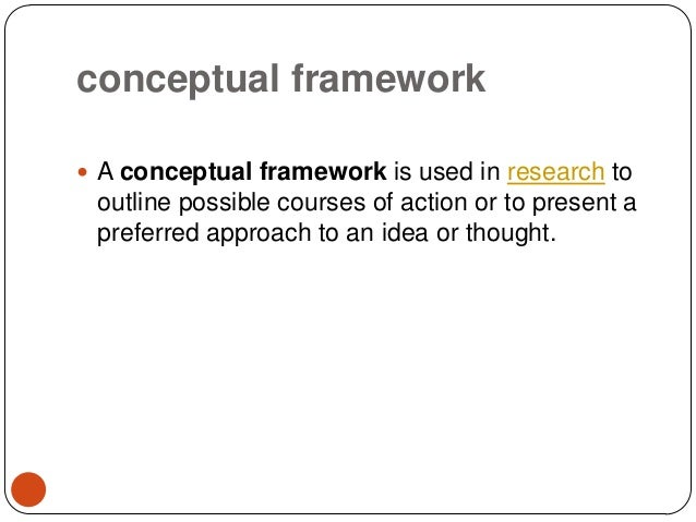 theoretical and conceptual framework thesis