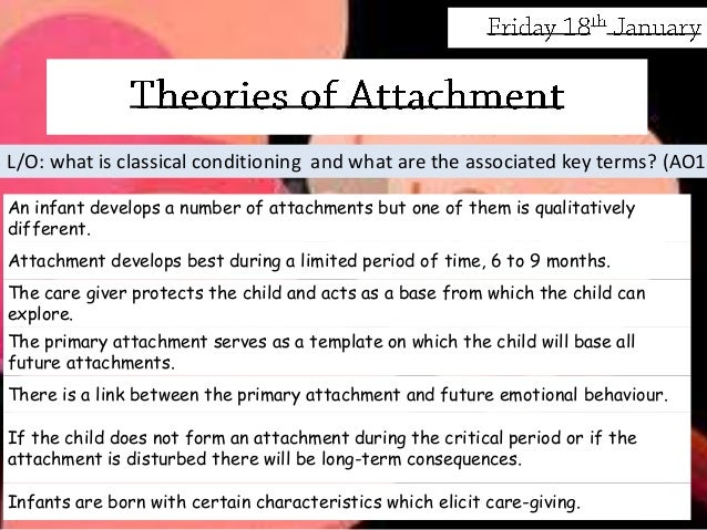 learning theory attachment essay