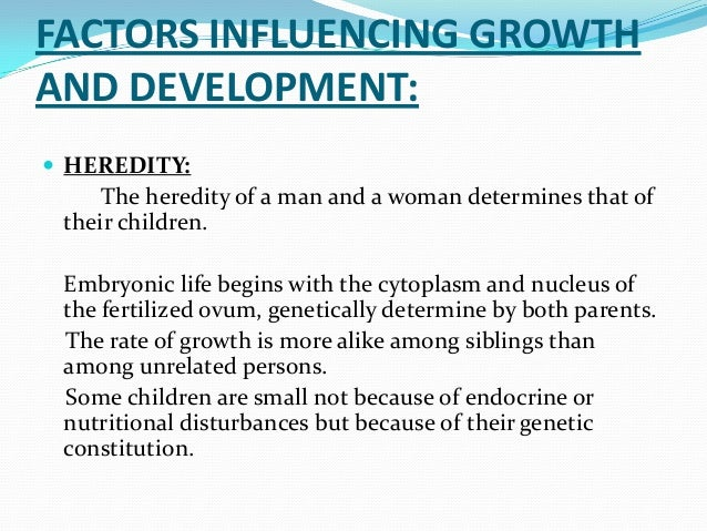 environmental factors of human growth