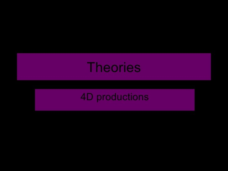 Theories 4D productions