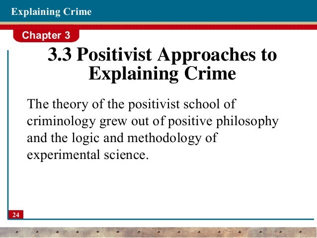 research papers classical criminology Social disorganization theory research paper starter  and criminology built upon quetelet's work and used maps of geographical areas to show  research paper.