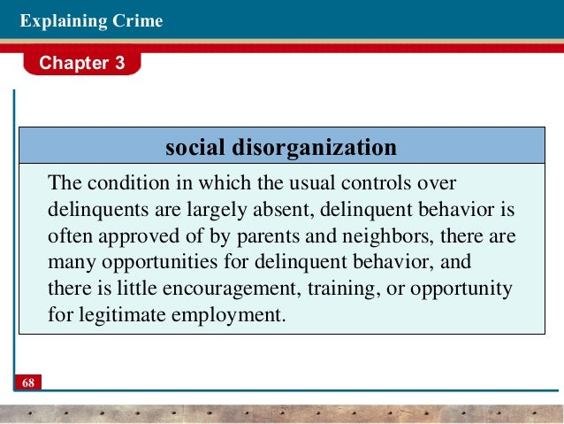 essays on social disorganization theory Social disorganization theory to improve their skills at reading, summarizing, and presenting information from scholarly sources that examine social disorganization theory.