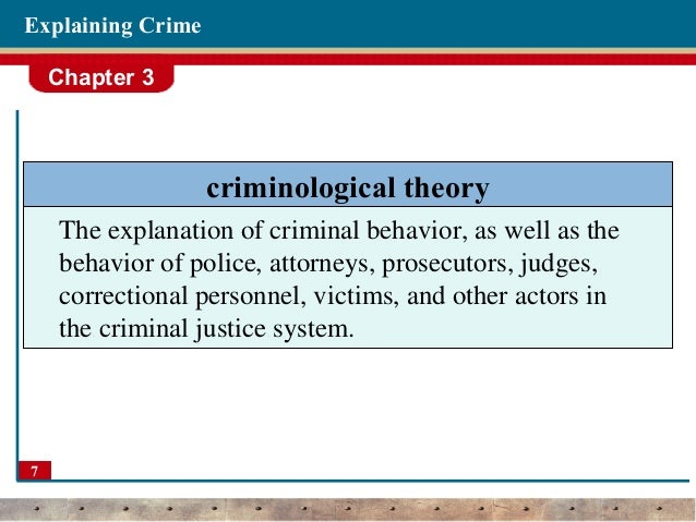 criminal behavior theories essay Criminal behavior has always been a focus for  important role in antisocial or criminal behavior neurochemicals in criminal and anti  theories, however.