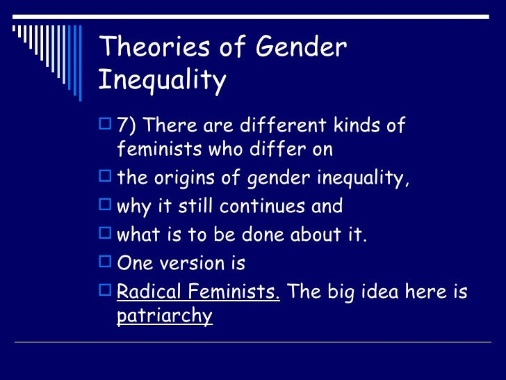 thesis on gender inequality