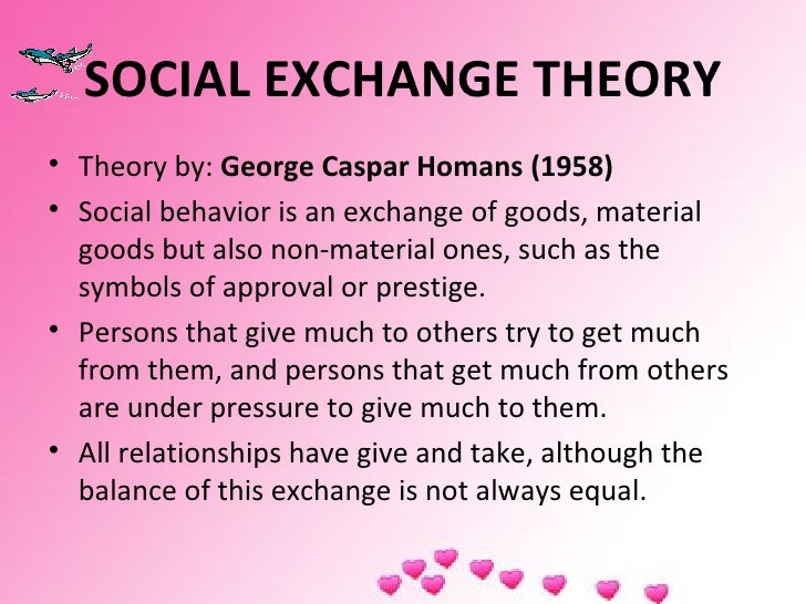 Social Exchange Theory Essay