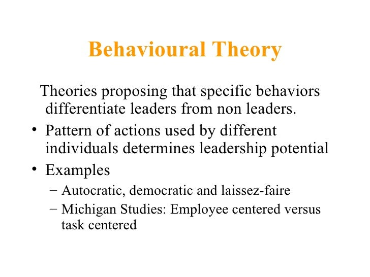 powerpoint presentation on leadership theories for