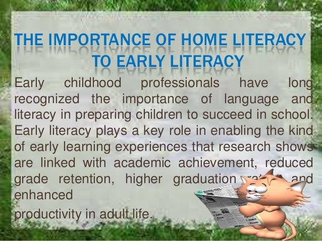 early literacy research paper Transition to school, and practices such as engaging families in early math and early literacy family engagement is key in building strong pathways that lead to children's healthy development, school readiness, graduation, and subsequent success our reviews and related blogs include examples of research and practice.