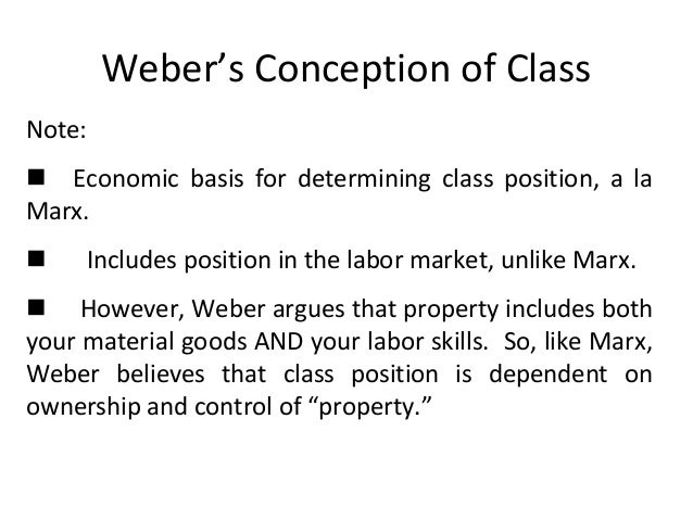 social class in modern society according to karl marx and max weber German sociologist max weber proposed a three-part view of economic and  social  view of economic and social stratification involving class, status, and  party as manifestations of power seeking and display within advanced capitalist  societies  contrasting weber's views on class consciousness with those of karl  marx.
