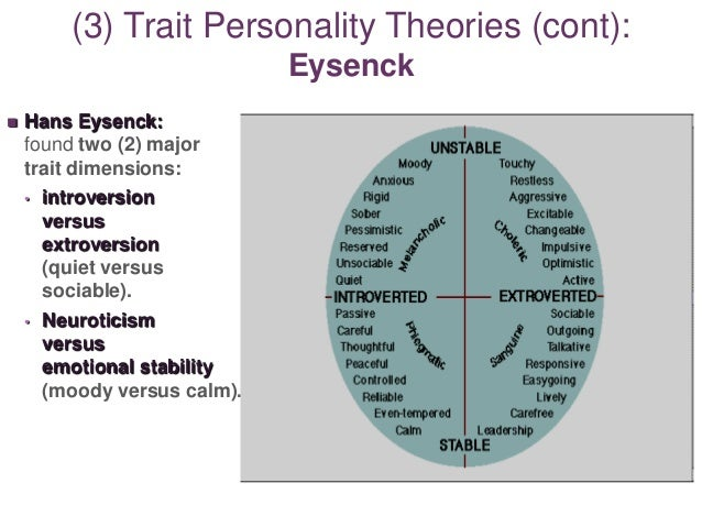an overview of the five personality trait theories In some theories and big five personality which is seen with his emphasis on the use of person and what that means for personality trait theory in.