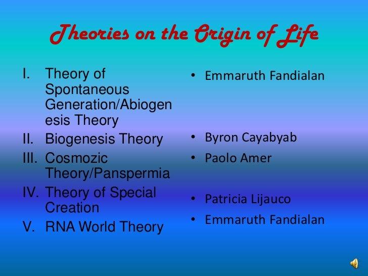 spontaneous generation theory pdf free