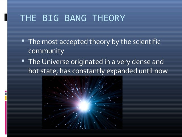 an introduction to the big bang effect and the creation of the universe Introduction hi everyone, like most people i grew up with science founded on ' particles', and cosmology founded on the 'big bang' theory at the time i just accepted it as true in a finite universe created by the big bang the second law of thermodynamics would cause the universe to tend towards entropy and disorder.
