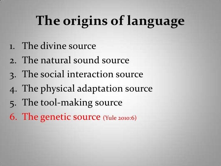 the origin of language essay