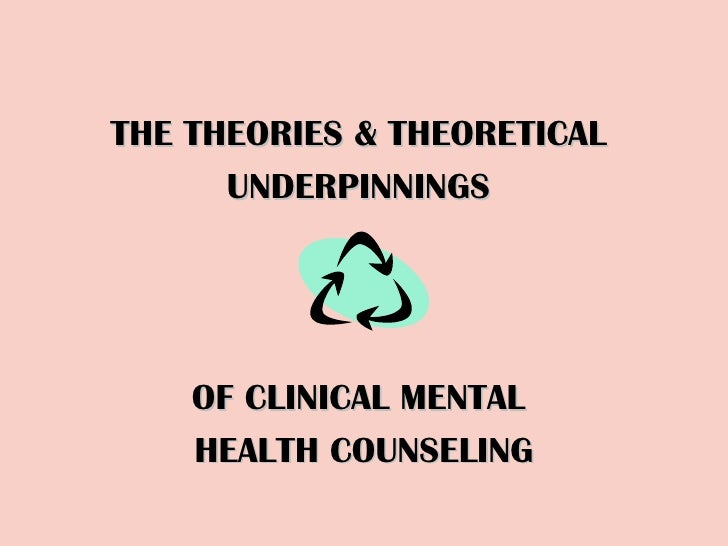 THE THEORIES & THEORETICAL  UNDERPINNINGS  OF CLINICAL MENTAL  HEALTH COUNSELING