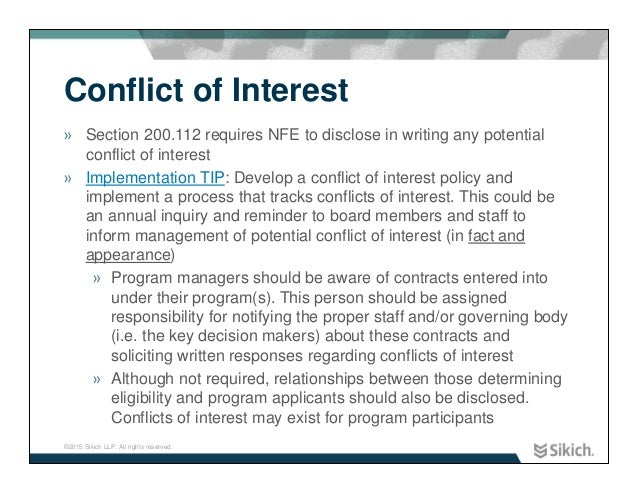 Conflict of Interest Template Conflict of Interest » Section
