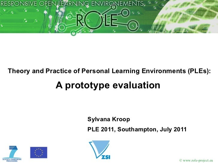 Theory and Practice of Personal Learning Environments (PLEs): A prototype evaluation  <ul><li>Sylvana Kroop </li></ul><ul>...