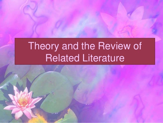 review of the related literature It will help you considerably if your topic for your literature review is the one on which you intend to do your final med project, or is in some way related to the topic of your final project however, you may pick any scholarly topic.