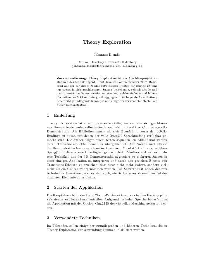 Theory Exploration                               Johannes Diemke                   Carl von Ossietzky Universit¨t Oldenbur...