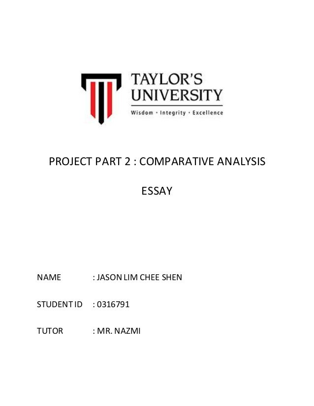 parts of comparative essay Writing a compare and contrast essay: what's it all about you will never understand how to write a comparative essay without defining this academic paper properly.