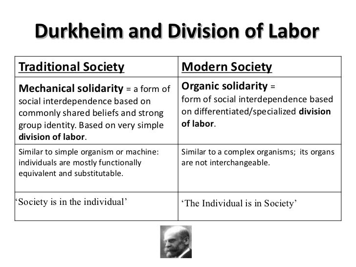 durkheim division of laber essay