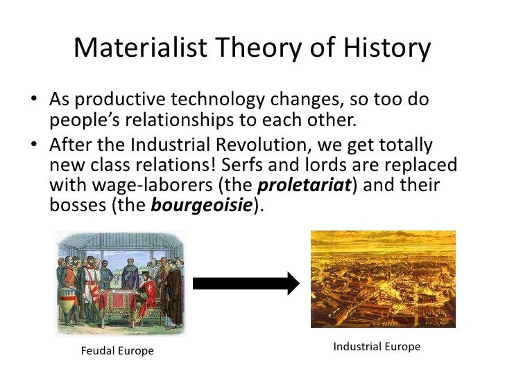 the materialistic conception of history essay Essay about materialism versus non-materialism in western science essay about materialism versus non-materialism in or the materialist conception of history.