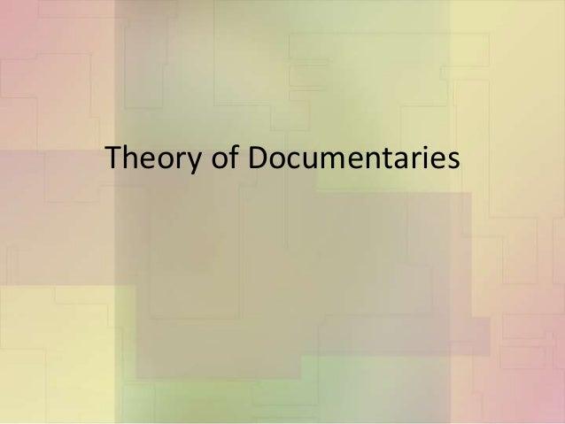 Theory of documentaries