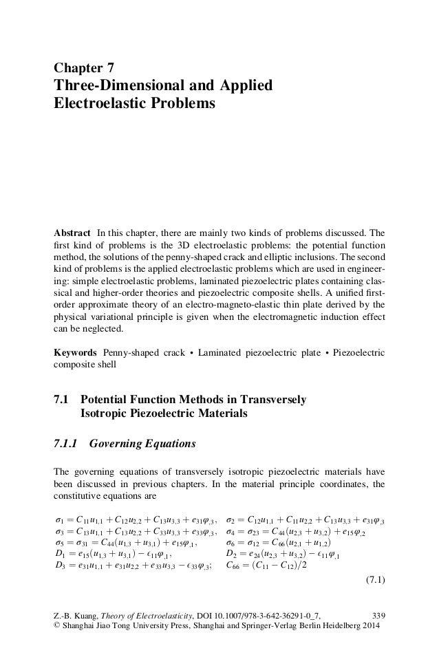 Theory of electroelasticity