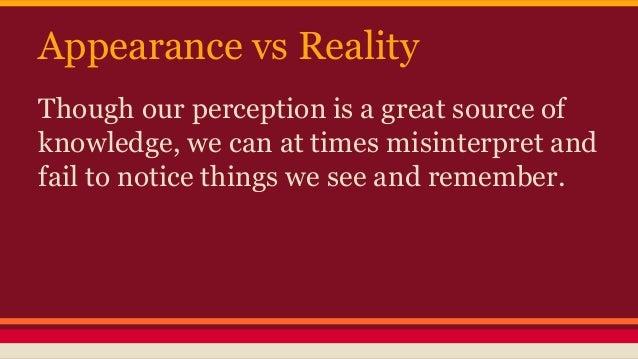 appearance vs reality theme essay