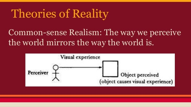 Does perception define reality?