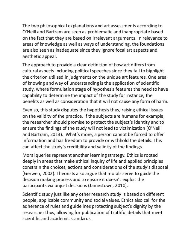 theory of knowledge essay format