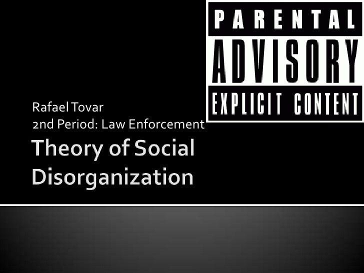 social disorganization theory and juveniles essays
