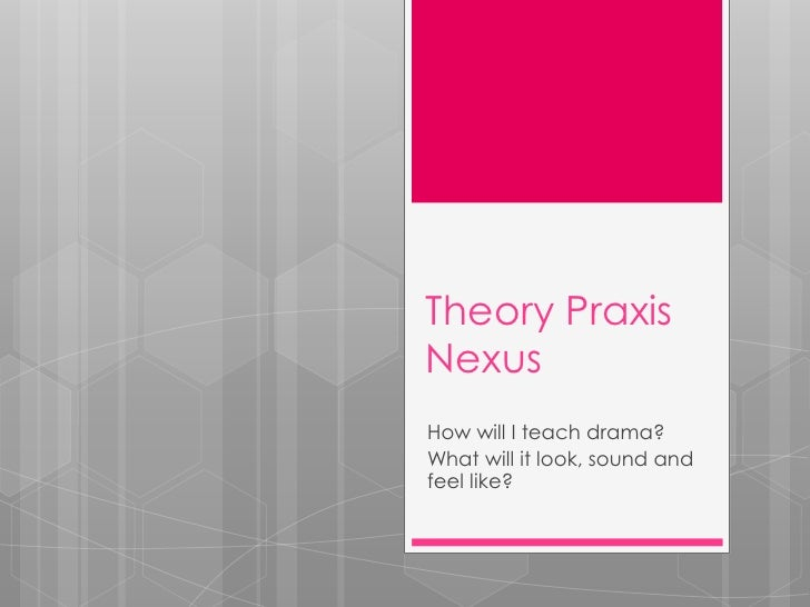 Theory PraxisNexusHow will I teach drama?What will it look, sound andfeel like?