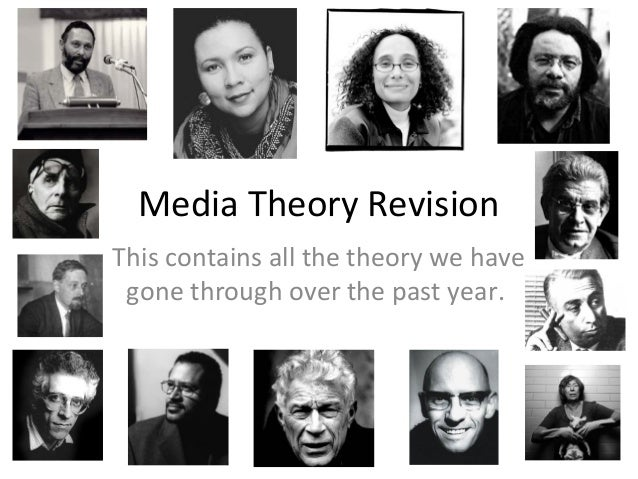Media Theory Revision This contains all the theory we have gone through over the past year.