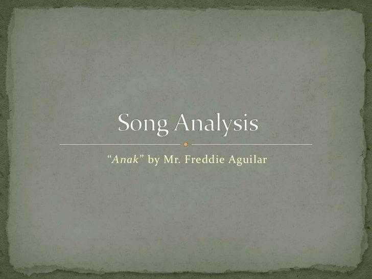 """""""Anak"""" by Mr. Freddie Aguilar"""