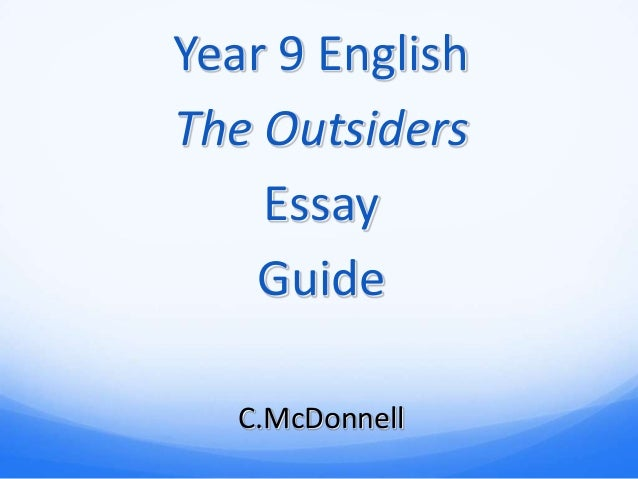 essay themes for the outsiders