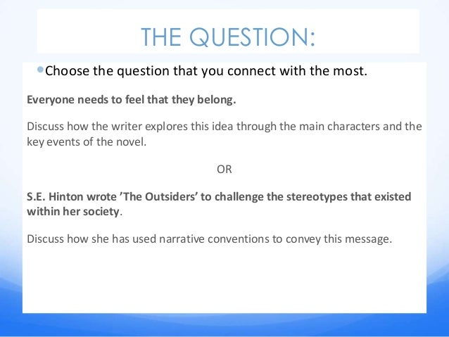 "theme essay for the outsiders The outsiders essay – describe an interesting theme from a text you have studied explain why this theme is interesting in the novel ""the outsiders"" by s."