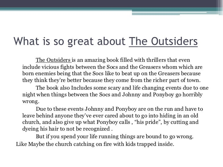 book report outsiders