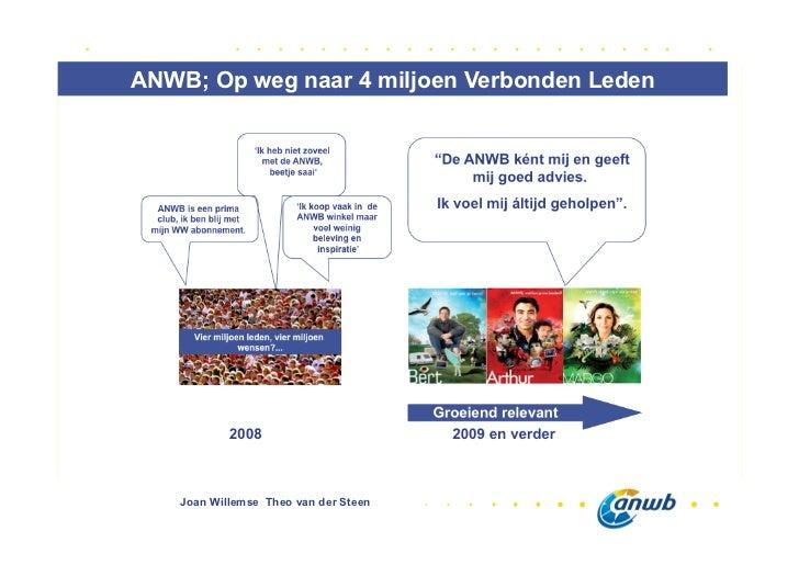 ANWB; Op weg naar 4 miljoen Verbonden Leden    Joan Willemse Theo van der Steen