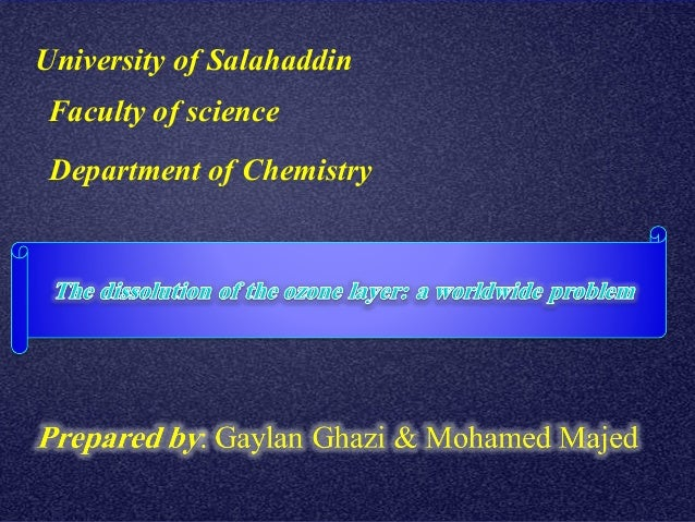 University of Salahaddin Faculty of science Department of Chemistry