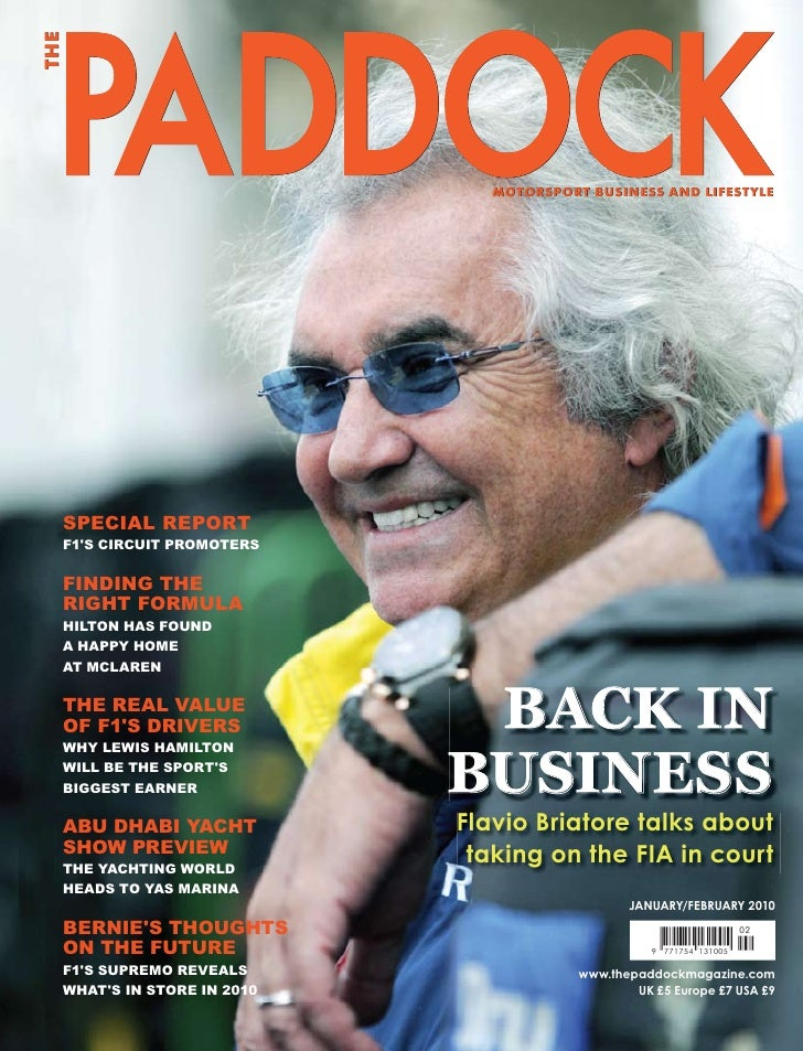 THE                                    MOTORSPORT BUSINESS AND LIFESTYLE       SPECIAL REPORT   F1'S CIRCUIT PROMOTERS    ...