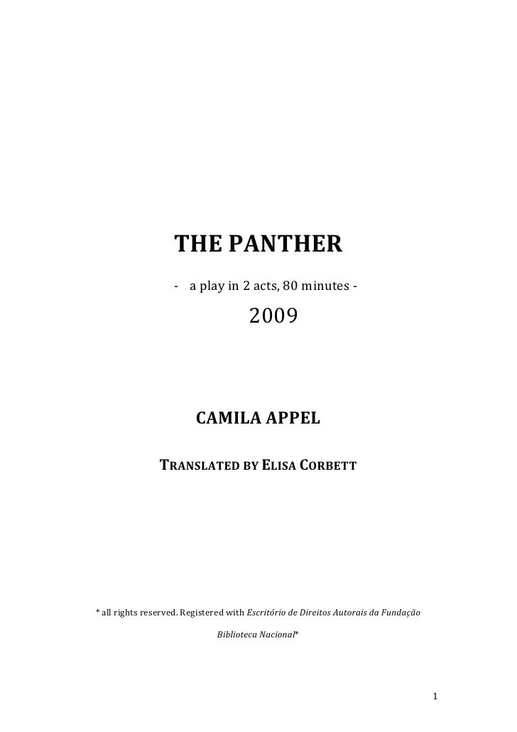 The Panther (translated by Elisa Corbett)