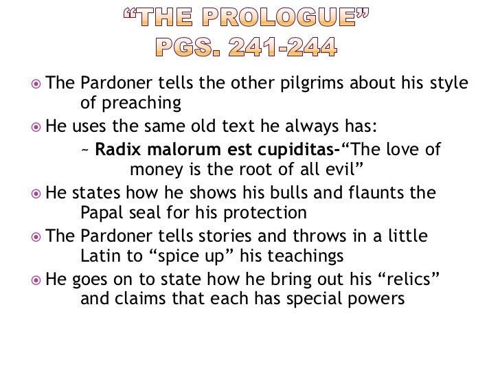 the pardoners prologue essay