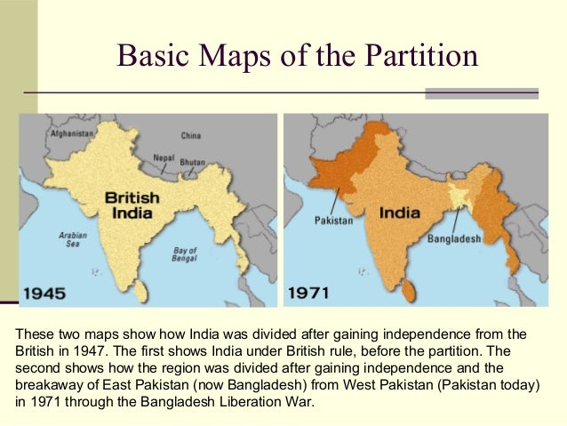 the british partition of india Gandhi's alienation of british india's muslim elite means that he is at least  partially responsible for the 1947 partition.
