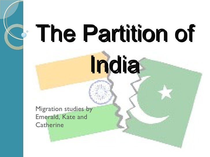 essay questions on the partition of india