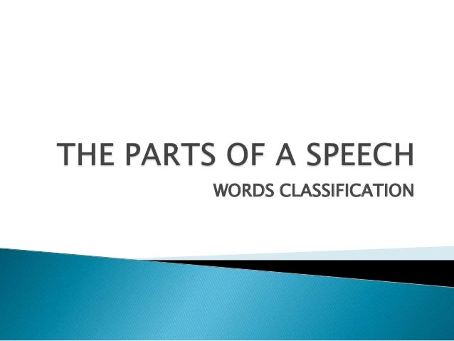 The parts of a speech