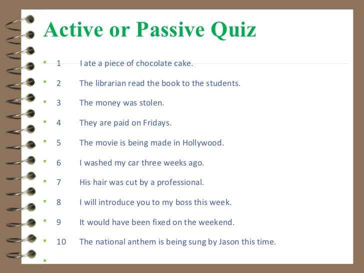 active and passive voice exercises pdf