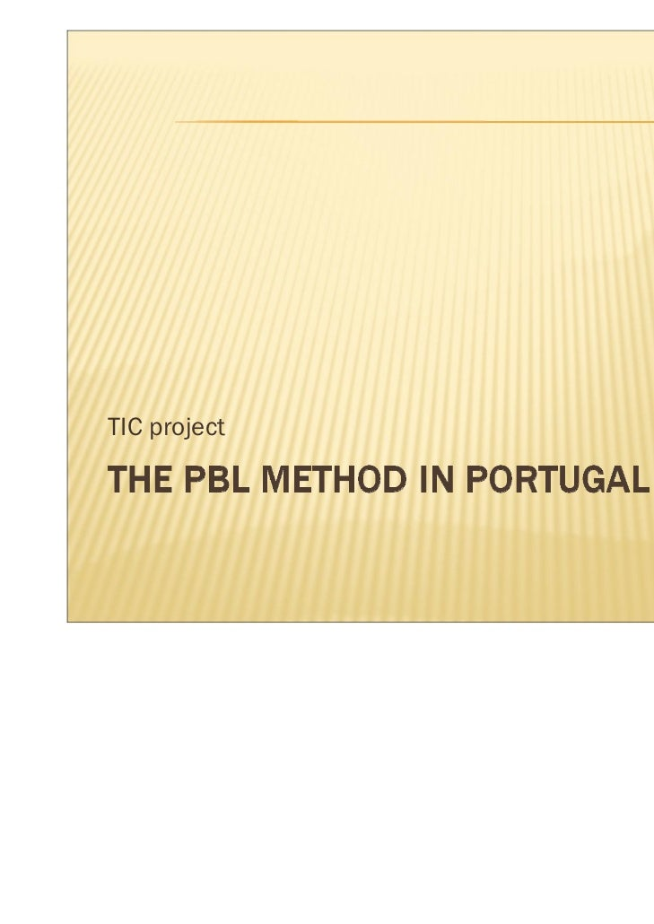 The pbl method in portugal