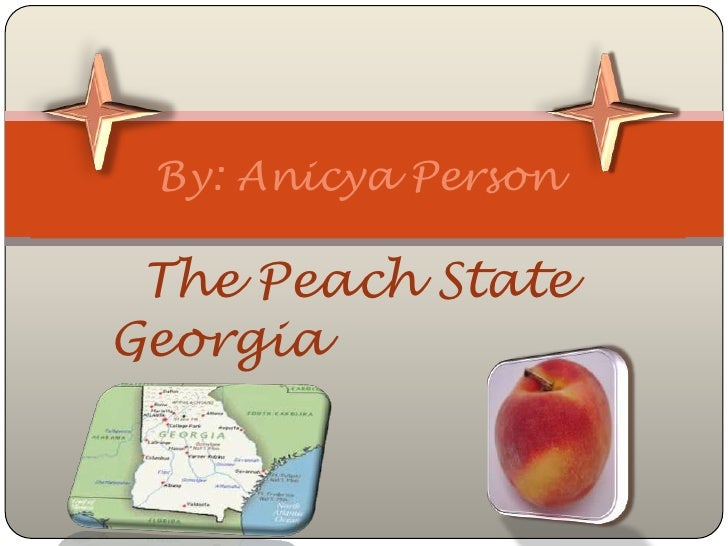 The peach state georgia