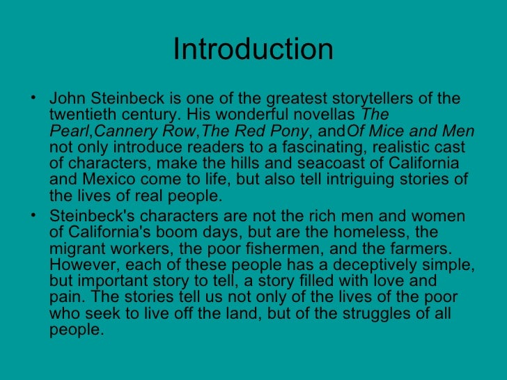 the theme and major characters in cannery row a novel by john steinbeck The paperback of the sweet thursday by john steinbeck  all the time working on his first novel,  it¿s just like living a dream with the characters of cannery row.